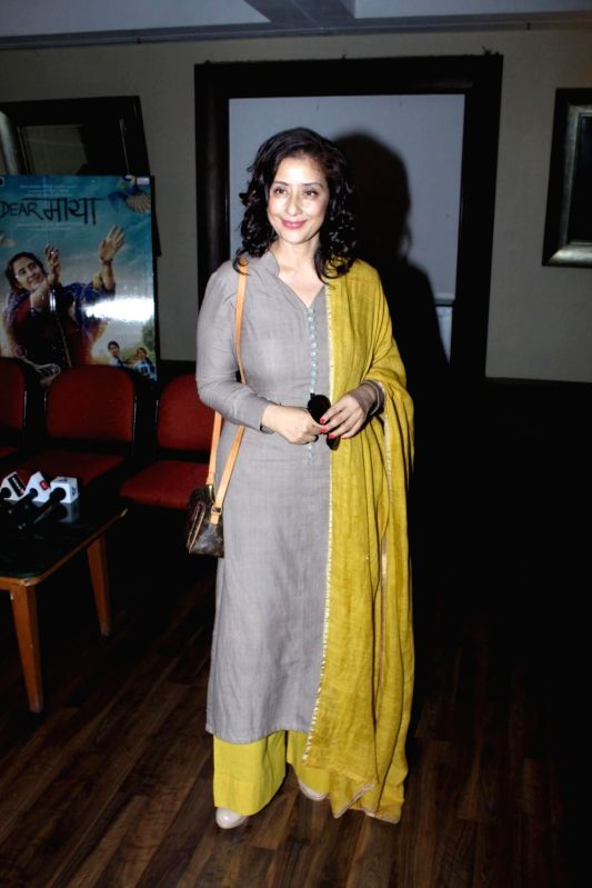 Actress Manisha Koirala during the media interaction of film Dear Maya in Mumbai, on May 22, 2017. - Manisha Koirala