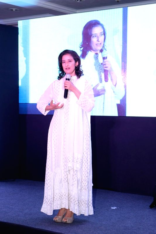 Actress Manisha Koirala during the social cause campaign 'My Hair for Cancer' organised by Hair care brand Richfeel and Nargis Dutt Foundation in Mumbai on April 18, 2017. - Manisha Koirala and Nargis Dutt Foundation