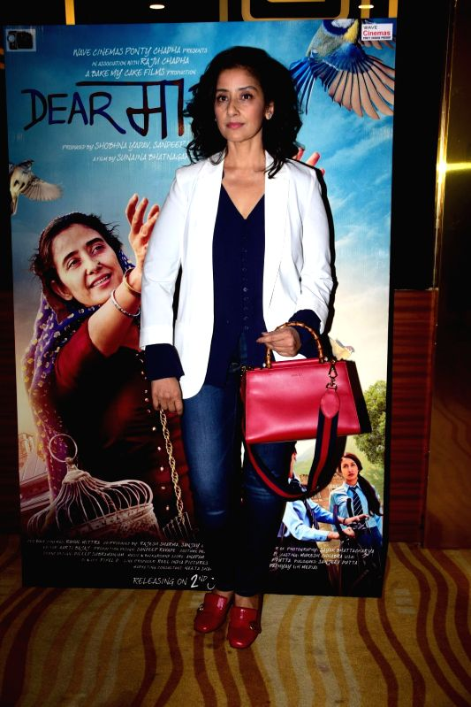 "Actress Manisha Koirala during the trailer launch of film ""Dear Maya"" in Mumbai on May 4, 2017. - Manisha Koirala"
