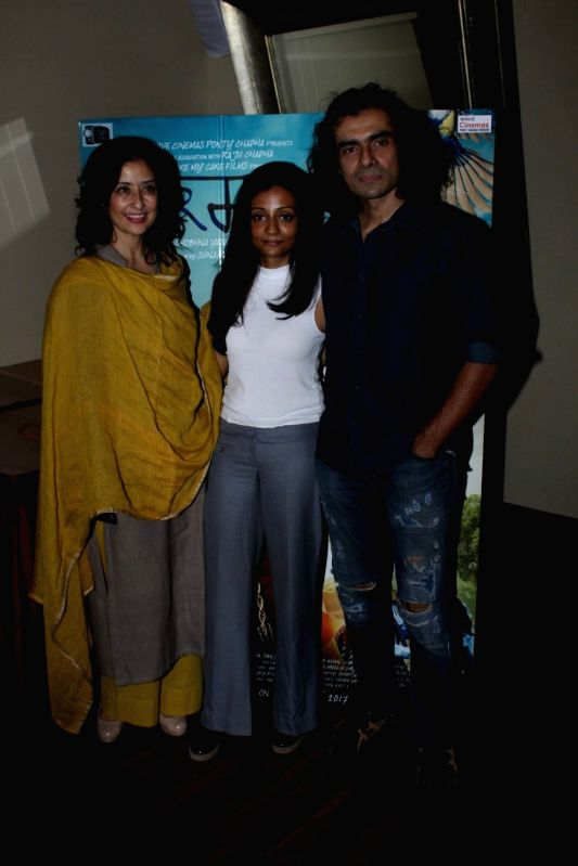 Actress Manisha Koirala, filmmakers Sunaina Bhatnagar and Imtiaz Ali during the media interaction of film Dear Maya in Mumbai, on May 22, 2017. - Manisha Koirala