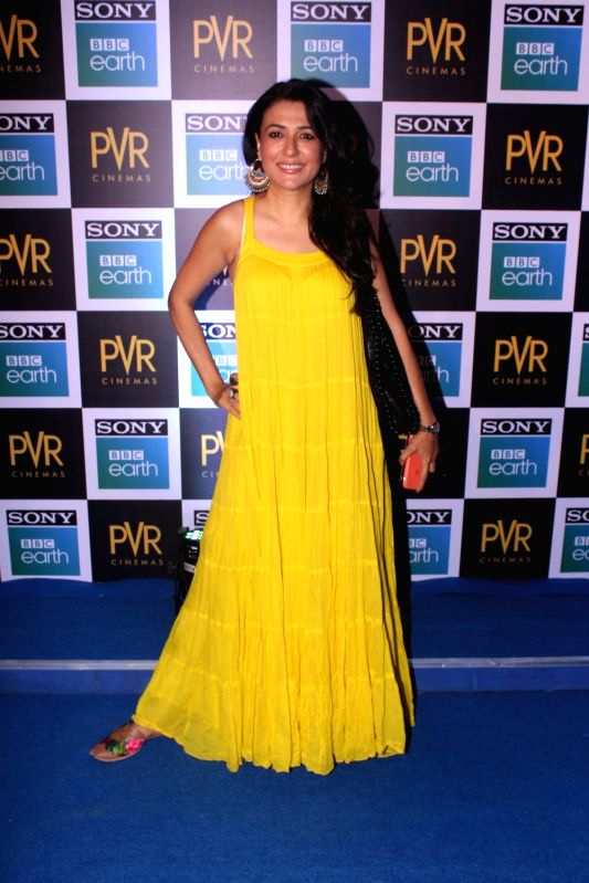 "Actress Mini Mathur at the screening of Sony BBC Earth's film ""Blue Planet II: One Ocean & The Deep"" in Mumbai on May 15, 2018. - Mini Mathur"