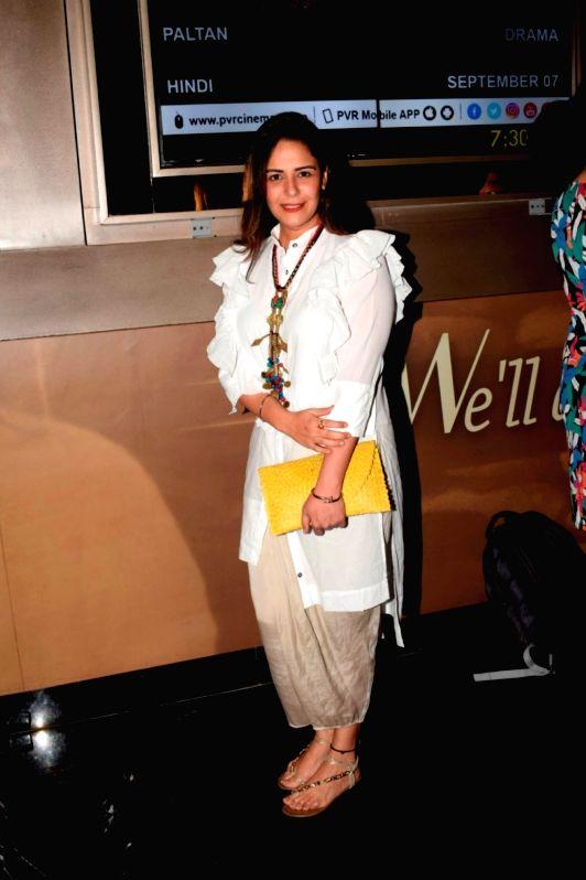 """Actress Mona Singh at the screening of web series """"Yeh Meri Family"""" in Mumbai on July 12, 2018. - Mona Singh"""