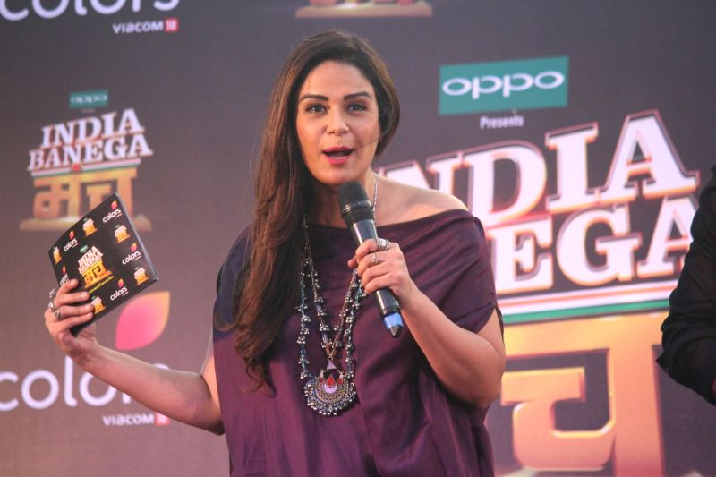 Actress Mona Singh during the launch of Colors TV new reality shows India Banega Manch in Mumbai on May 4, 2017. - Mona Singh