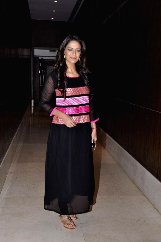 Actress Mona Singh during the media interaction of new Sony TV serial Pyaar Ko Ho Jaane Do in Mumbai, on Oct 30, 2015. - Mona Singh