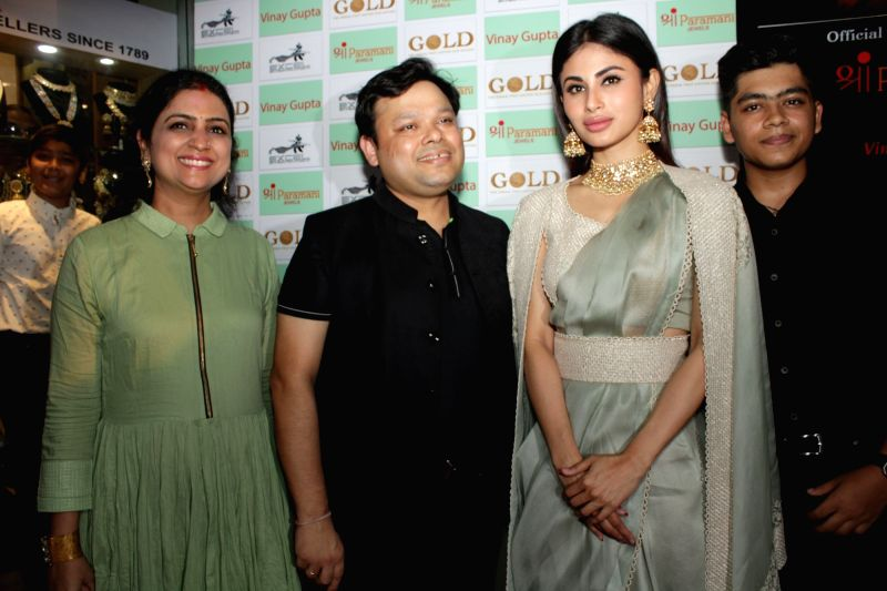 Actress Mouni Roy at a Jewellery store launch in New Delhi on Aug 11, 2018. - Mouni Roy
