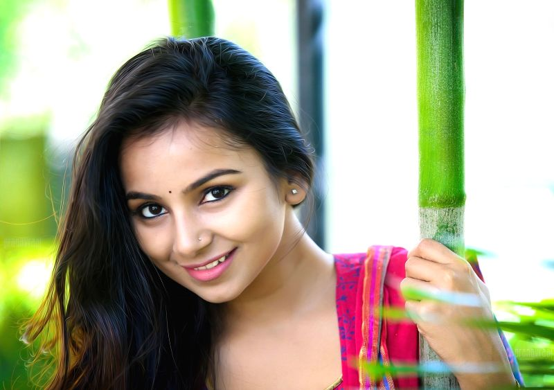 Actress Mrudula poses during a photoshoot. - Mrudula
