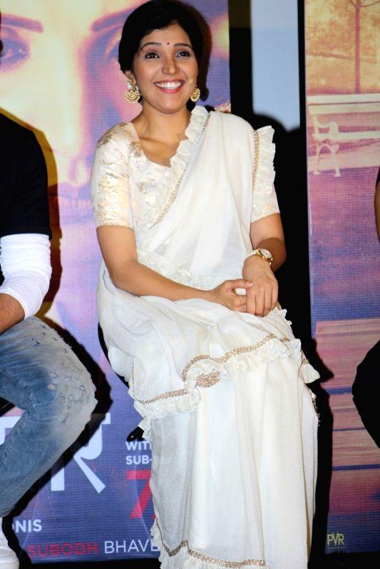 Actress Mukta Barve during the trailer launch of Marathi film Hrudayantar in Mumbai on May 28, 2017. - Mukta Barve