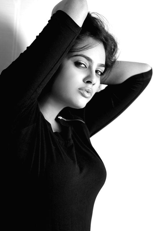 Actress Nandita Swetha during a photo shoot.