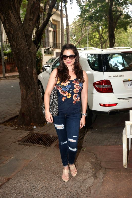 Actress Neelam Kothari during Tussar Kapoor son Laksshay`s first birthday party in Mumbai on June 1, 2017. - Neelam Kothari and Tussar Kapoor