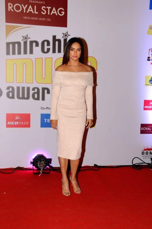 """Actress Neetu Chandra  at the red carpet of """"10th Mirchi Music Awards"""" in Mumbai on Jan 28, 2018. - Neetu Chandra"""