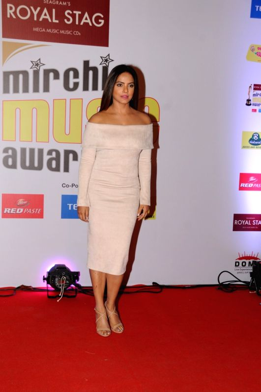 "Actress Neetu Chandra  at the red carpet of ""10th Mirchi Music Awards"" in Mumbai on Jan 28, 2018. - Neetu Chandra"