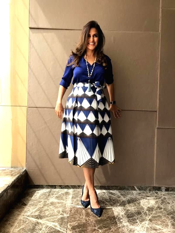 Actress Neha Dhupia at Miss India mentoring in New Delhi on April 16, 2017. - Neha Dhupia