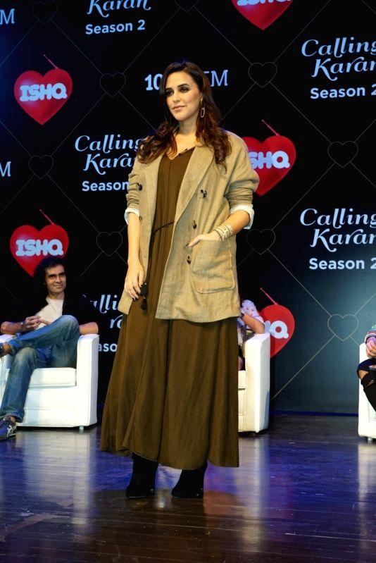 "Actress Neha Dhupia at the launch of upcoming radio show ""Calling Karan Season 2"" in Mumbai on Aug 6, 2018. - Neha Dhupia"