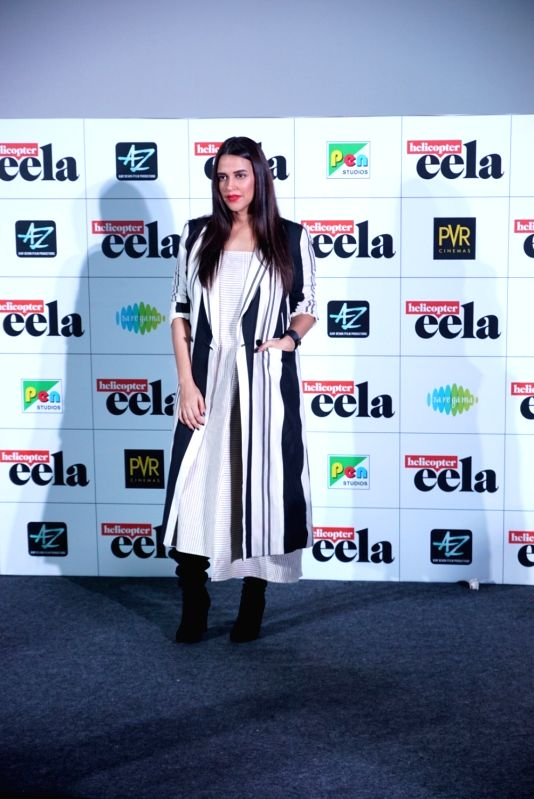 "Actress Neha Dhupia at the trailer launch of upcoming film ""Helicopter Eela"" in Mumbai, on Aug 5, 2018. - Neha Dhupia"