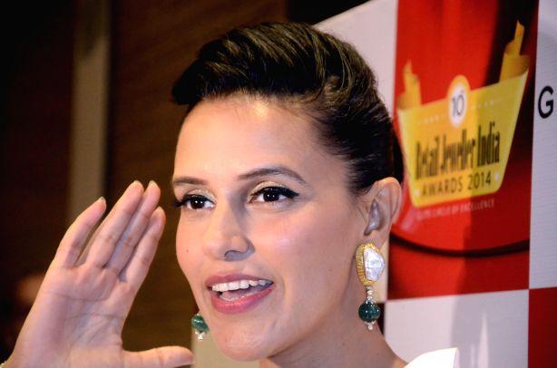 Actress Neha Dhupia during 10th Retail Jeweller India Awards in Mumbai on July 3, 2014. - Neha Dhupia
