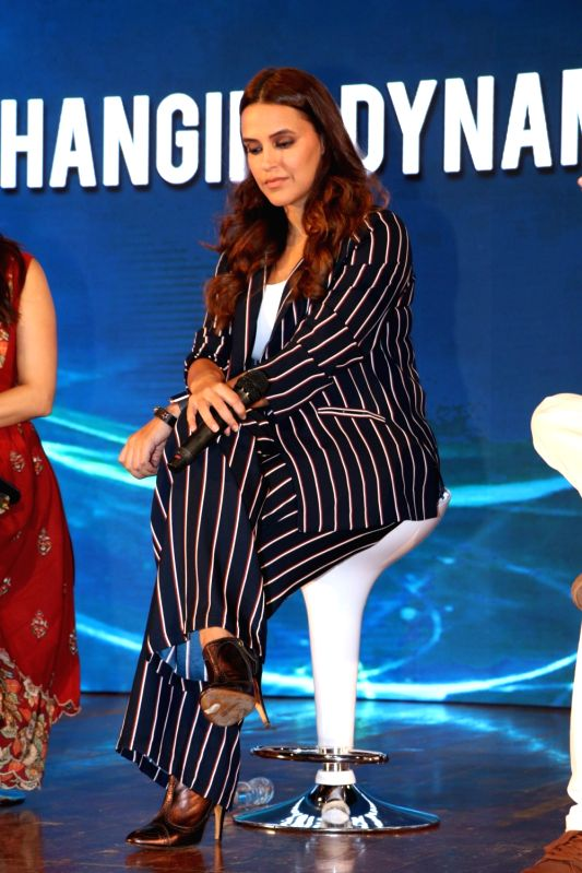 Actress Neha Dhupia during a content creation festival at Nehru Center, Worli in Mumbai on Sept 30, 2017. - Neha Dhupia