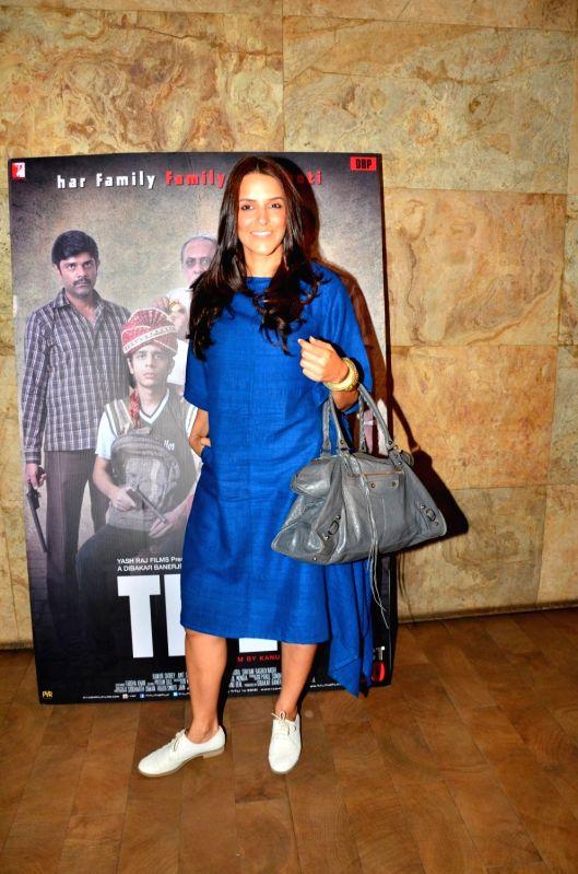 Actress Neha Dhupia during the screening of film Titly in Mumbai on Oct 29, 2015. - Neha Dhupia