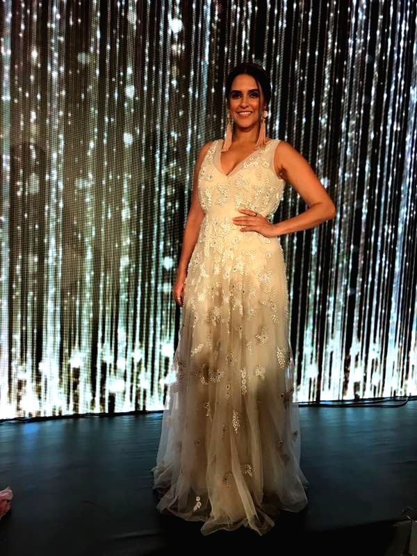 Actress Neha Dhupia sizzles in FBB Miss India North Zone Finale in Mumbai on April 21, 2017. - Neha Dhupia