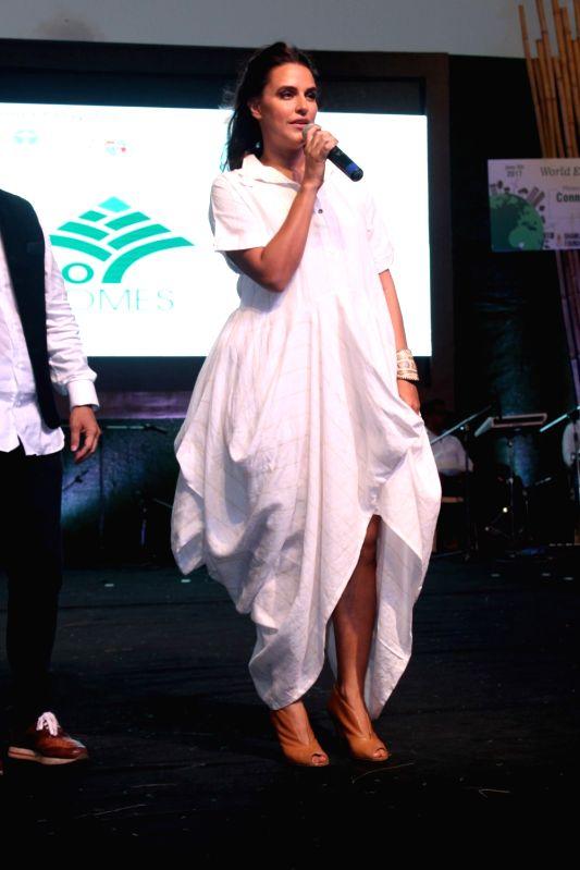 Actress Neha Dupia during a program to celebrate world environment day organized by Bhamla Foundation and MCGM in Mumbai, on June 5, 2017. - Neha Dupia