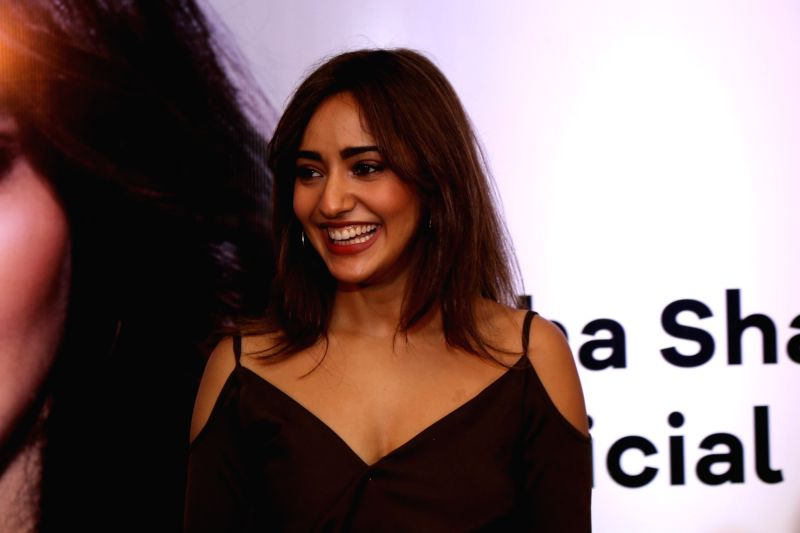 Actress Neha Sharma during the launch of her own app in Mumbai on April 24, 2017. - Neha Sharma
