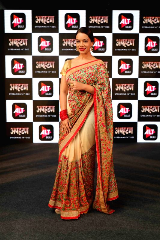 """Actress Nidhi Singh at the launch of her web series """"Apharan"""" in New Delhi, on Dec 6, 2018. - Nidhi Singh"""