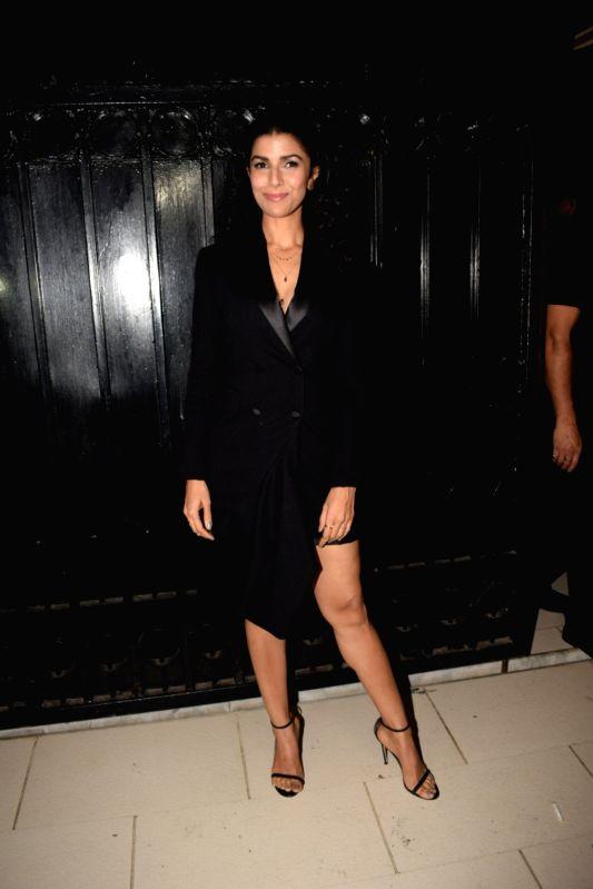 """Actress Nimrat Kaur at the producer Ekta Kapoor's party post web series """"The Test case"""" screening in Mumbai on Jan 29, 2018. - Nimrat Kaur and Ekta Kapoor"""