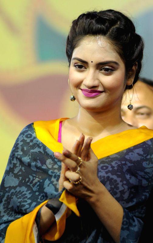Actress Noor Jahan during `Raksha Bandhan Utsab` in Kolkata on Aug 10, 2014. - Noor Jahan
