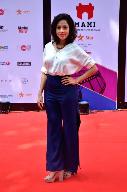 Actress Nushrat Bharucha at the 2nd day of Jio MAMI 17th Mumbai Film Festival, in Mumbai on Oct. 31, 2015. - Nushrat Bharucha