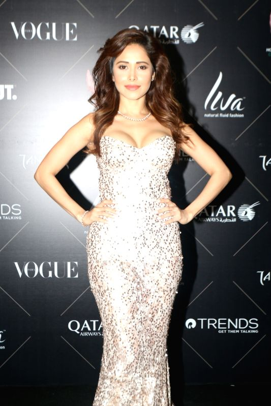 "Actress Nushrat Bharucha at the red carpet of ""Vogue Beauty Awards"" in Mumbai on July 31, 2018. - Nushrat Bharucha"