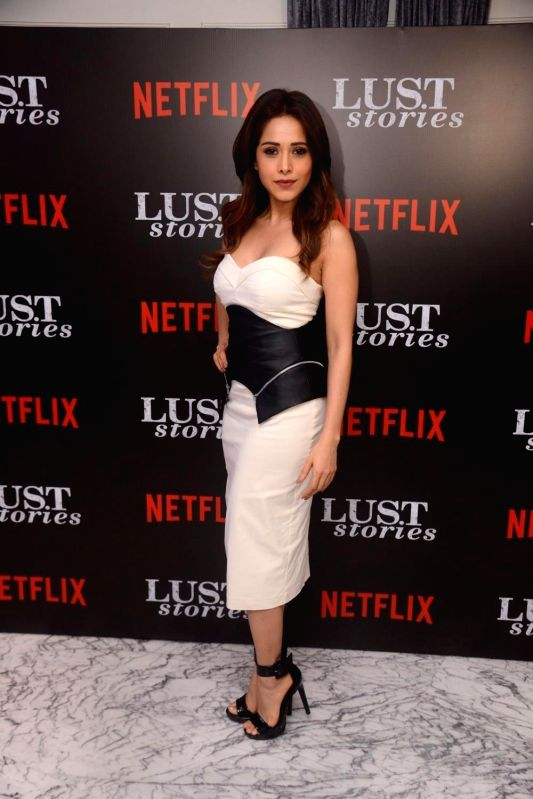 "Actress Nushrat Bharucha at the special screening of Netflix show titled ""Lust Stories"" in Mumbai on June 13, 2018. - Nushrat Bharucha"