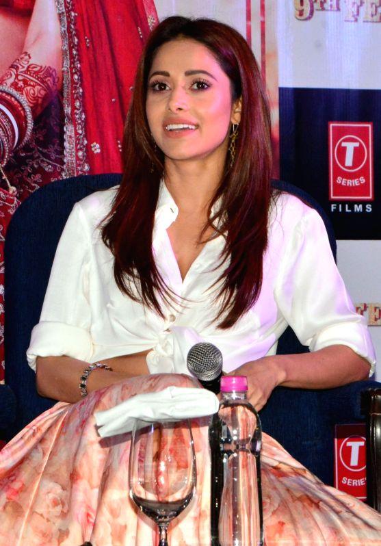 """Actress Nushrat Bharucha during a press conference organised to promote upcoming film """"Sonu Ke Titu Ki Sweety"""" in Kolkata, on Jan 20, 2018. - Nushrat Bharucha"""