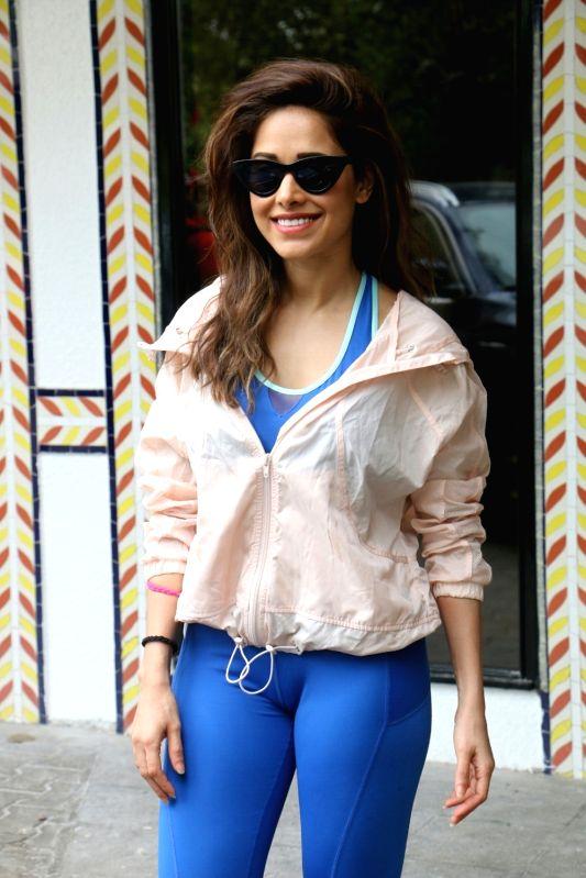 Actress Nushrat Bharucha seen at Sun n Sand Juhu, in Mumbai on Aug 11, 2018. - Nushrat Bharucha