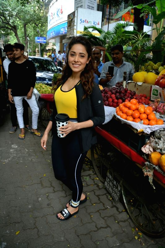 Actress Nushrat Bharucha seen in Mumbai's Bandra on July 30, 2018. - Nushrat Bharucha