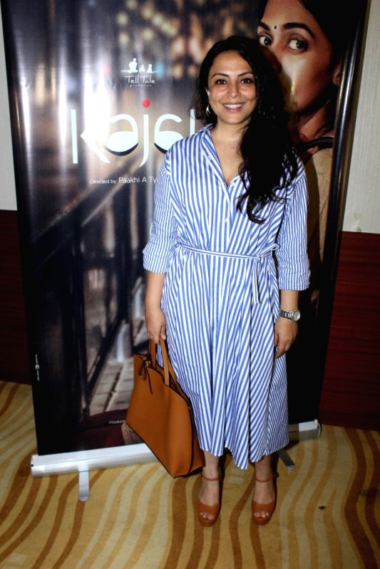 "Actress Pakhi Tyrewala during the screening of short film ""kajal"" in Mumbai on June 6, 2017. - Pakhi Tyrewala"