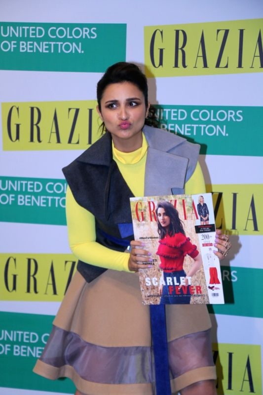 "Actress Parineeti Chopra at the cover launch of ""Grazia"" magazine in Mumbai on Jan 28, 2018. - Parineeti Chopra"