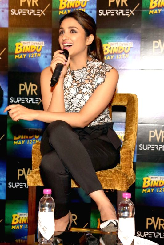 "Actress Parineeti Chopra during a press conference organised to promote her upcoming film ""Meri Pyaari Bindu"" in Noida, on May 10, 2017. - Parineeti Chopra"