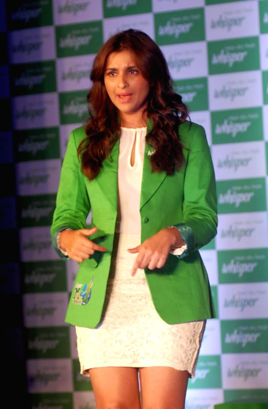 Actress Parineeti Chopra during a programme organised by a sanitary napkin manufacturing company in Mumbai on Aug 12, 2014.