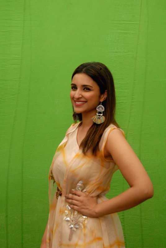 Actress Parineeti Chopra during the promotion of film Meri Pyaari Bindu in Mumbai on April 30, 2017. - Parineeti Chopra