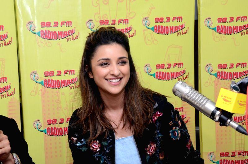 "Actress Parineeti Chopra during the promotion of upcoming film ""Meri Pyari Bindu"" at Radio Mirchi studio in Mumbai on May 3, 2017. - Parineeti Chopra"