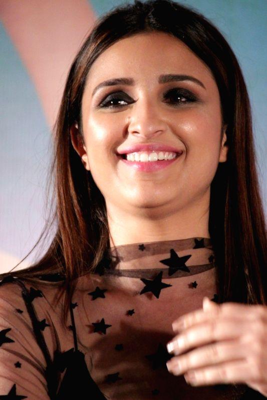 Actress Parineeti Chopra during the song launch Of film Meri Pyaari Bindu in Mumbai on April 18, 2017. - Parineeti Chopra
