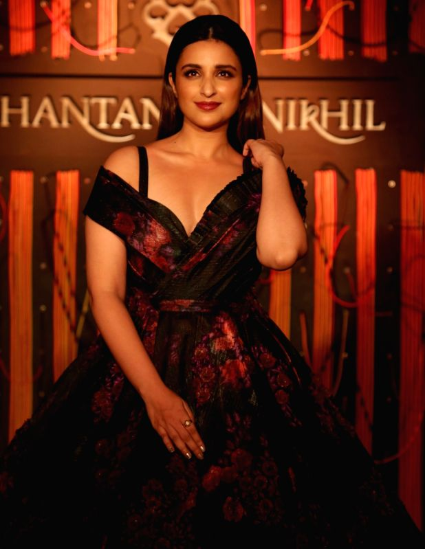 "Actress Parineeti Chopra walks the ramp for fashion designer Shantanu and Nikhil at their show - ""Independence"" where their Autumn-Winter 2018 couture collection was showcased, ... - Parineeti Chopra"