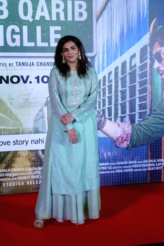 "Actress Parvathy at the trailer launch of her upcoming film ""Qarib Qarib Singlle"" in Mumbai, on Oct 6, 2017. - Parvathy"
