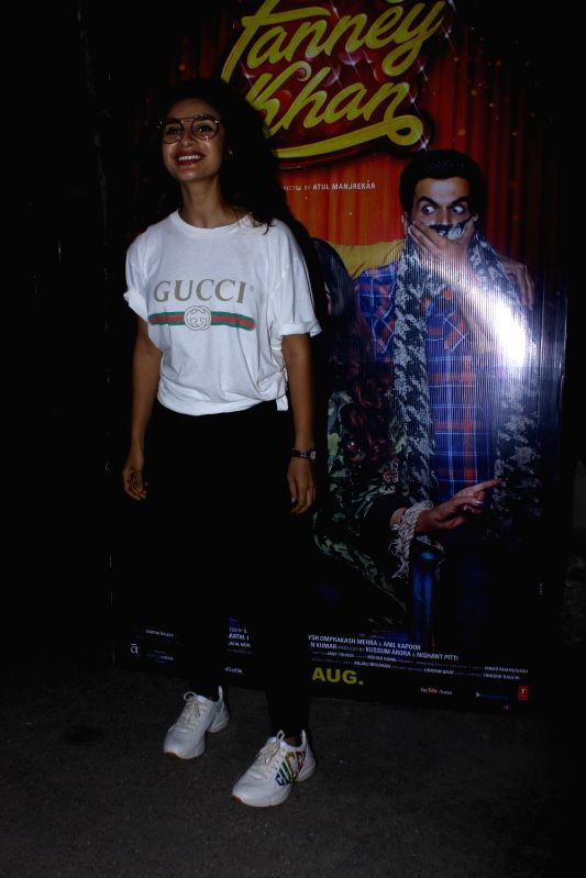 "Actress Patralekha at the special screening of upcoming film ""Fanney Khan"", in Mumbai on Aug 1, 2018. - Patralekha and Fanney Khan"