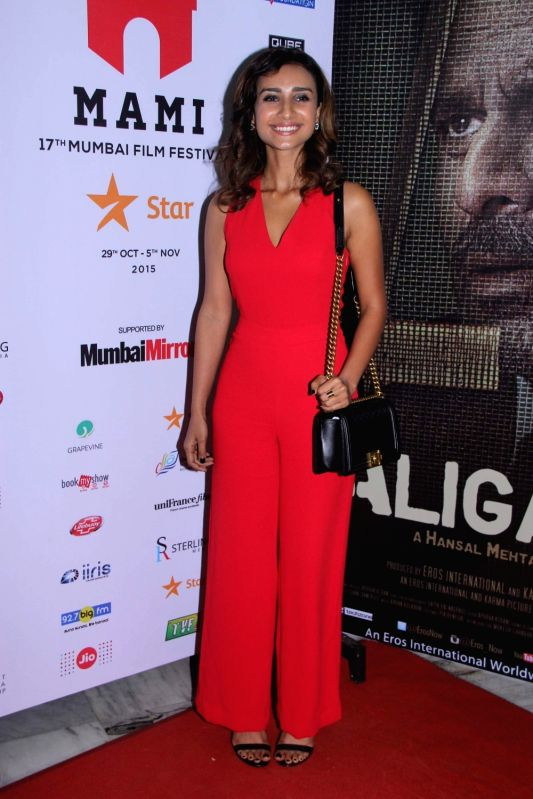 Actress Patralekha during the premiere of film Aligarh at Jio MAMI 17th Mumbai Film Festival in Mumbai, on Oct 30, 2015. - Patralekha
