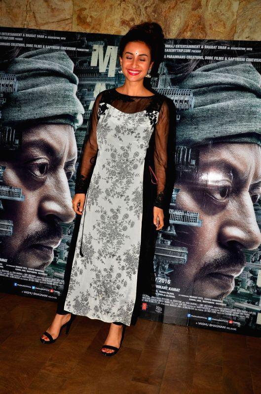 Actress Patralekha during the screening of the film Madaari in Mumbai on July 20, 2016. - Patralekha