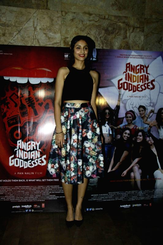 Actress Pavleen Gujral during the screening of film Angry Indian Goddesses in Mumbai  Nov  30, 2015 - Pavleen Gujral
