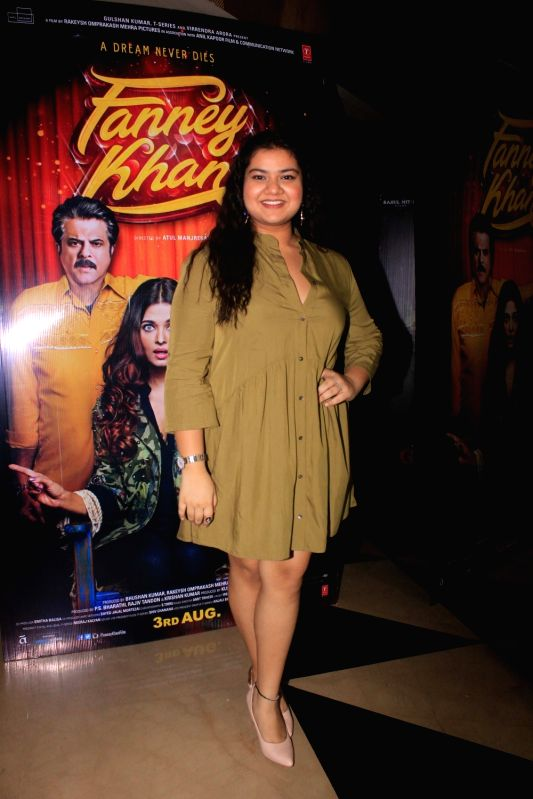 "Actress Pihu Sand at the special screening of her upcoming film ""Fanney Khan"" in Mumbai on July 31, 2018. - Pihu Sand and Fanney Khan"