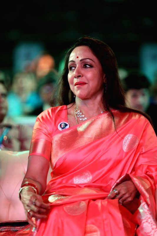 Actress-politician Hema Malini during a programme in Mumbai on Jan 31, 2018. - Hema Malini