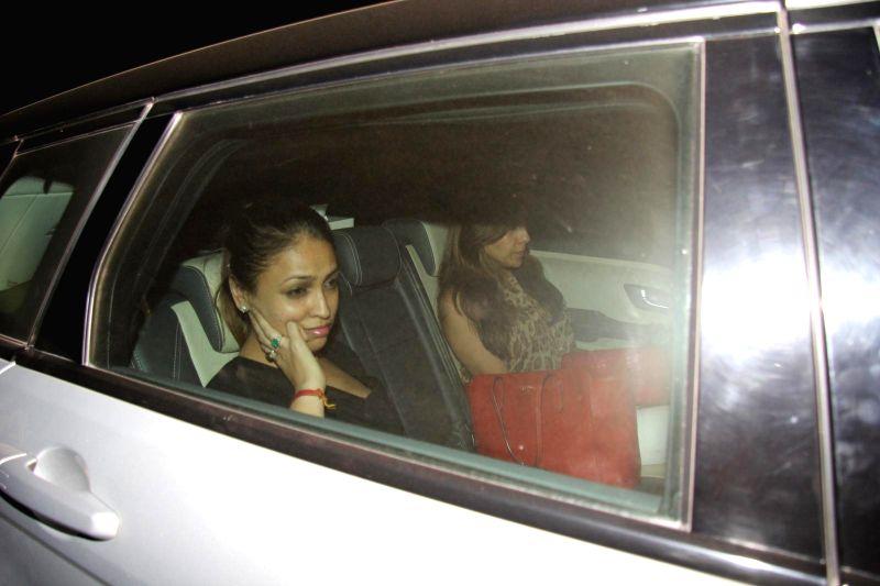 Actress Pooja Bedi arrives at Salman Khan's birthday party in Panvel near Mumbai, India on December 26, 2014. - Pooja Bedi