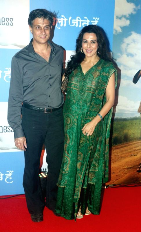 "Actress Pooja Bedi during screening of film ""Chalo Jeete Hai"", in Mumbai on July 28, 2018. - Pooja Bedi"